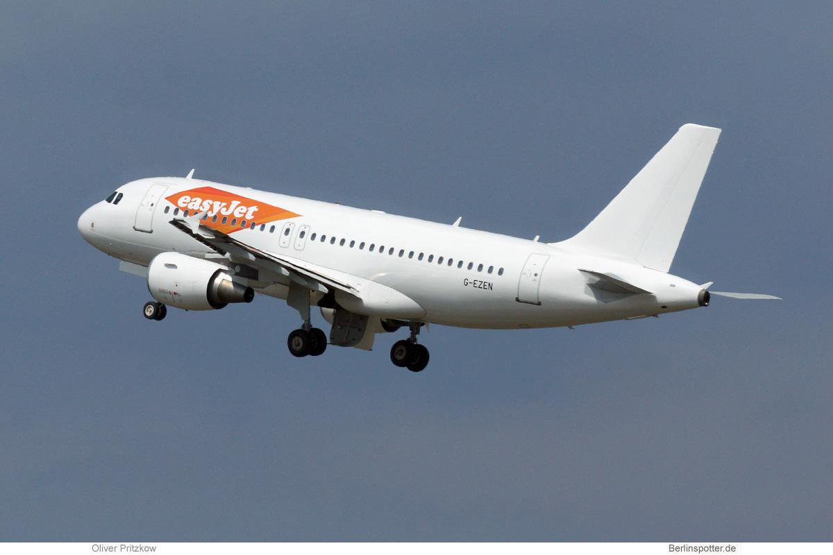 easyJet Airbus A319-100 G-EZEN