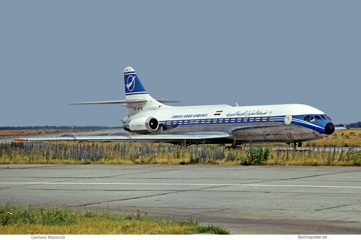 Syrian Arab Airlines Sud Aviation SE-210 Caravelle YK-AFB