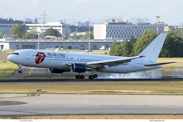 Aeronexus Corp., Boeing 767-300ER ZS-NEX, Rolling Stones Tour 2018 (SXF 21.6. 2018)