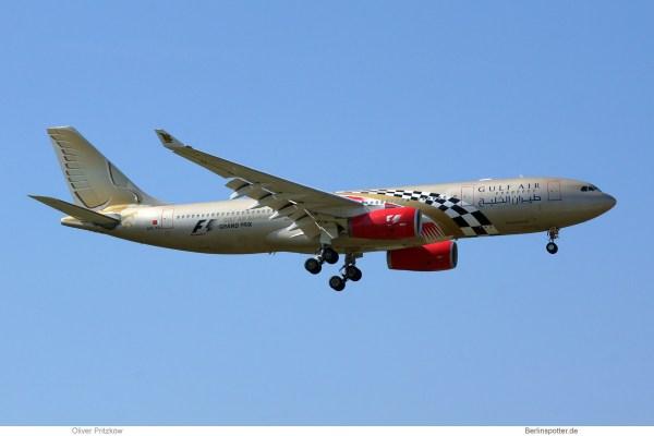 Gulf Air, Airbus A330-200 A9C-KB, Bahrain F1 Grand Prix cs. (SXF 31.7. 2018)