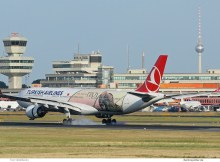 Turkish Airlines, Airbus A330-300 TC-JOG, Year of Troy cs. (TXL 25.7. 2018)