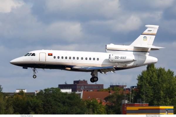 Angola Gvmt., Dassault Falcon 900B D2-ANT (TXL 21.8. 2018)