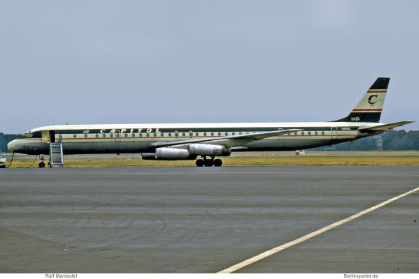 Capitol International Airways, Douglas DC-8-63CF N4910C (TXL 07/1973)