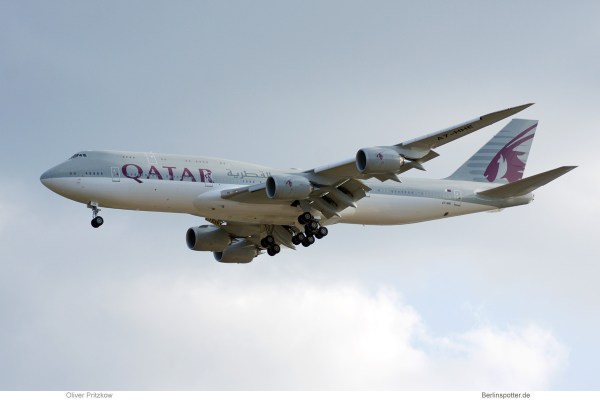 Qatar Amiri Flight, Boeing 747-8 (BBJ) A7-HHE (TXL 5.9. 2018)