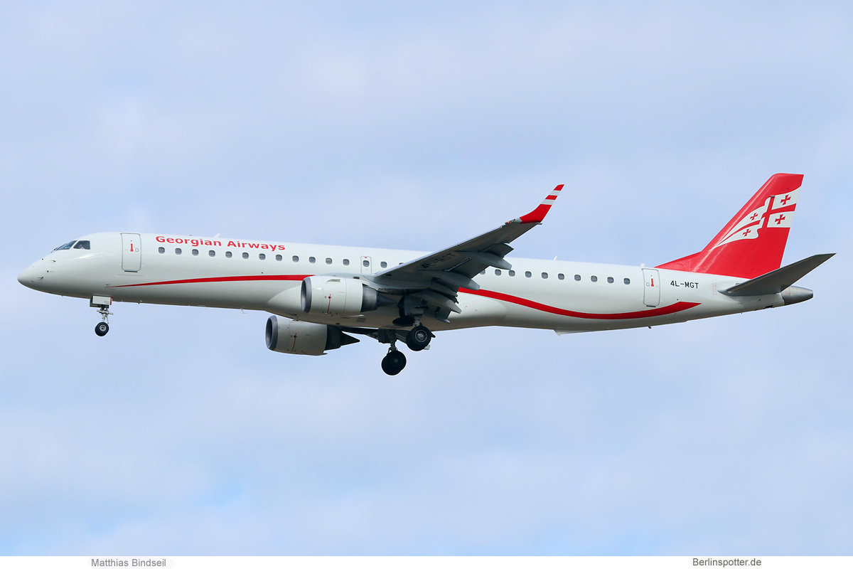 Georgian Airways Embraer 195 4L-MGT