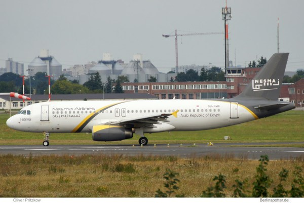 Nesma Airlines, Airbus A320-200 SU-NMB (SXF 17.8. 2014)