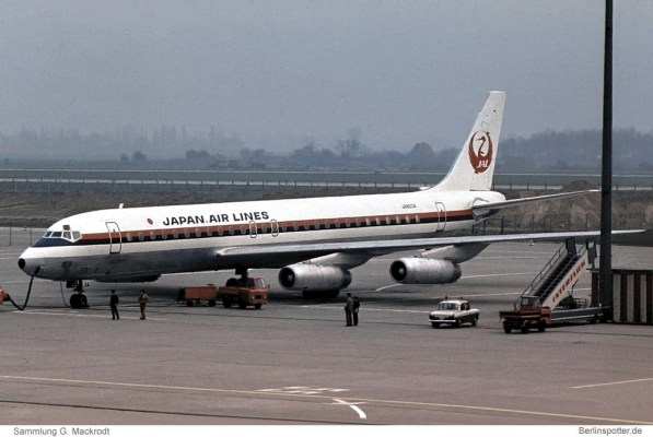 JAL Japan Air Lines, Douglas DC-8-62 JA8034 (SXF 22.4.1978)