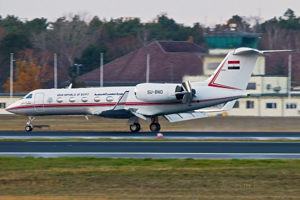 Arab Republic of Egypt, Gulfstream IV SP SU-BNO (TXL 3.12. 2018)