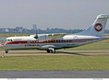 Cimber Air, ATR42-300 OY-CIB (THF 09/1991)