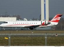 Airzena Georgian Airways, Bombardier CRJ-200 4L-TGB (SXF 18.2.2019)