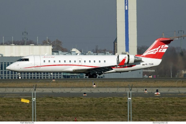 Airzena Georgian Airways, Bombardier CRJ-200 4L-TGB (SXF 18.2.2019)