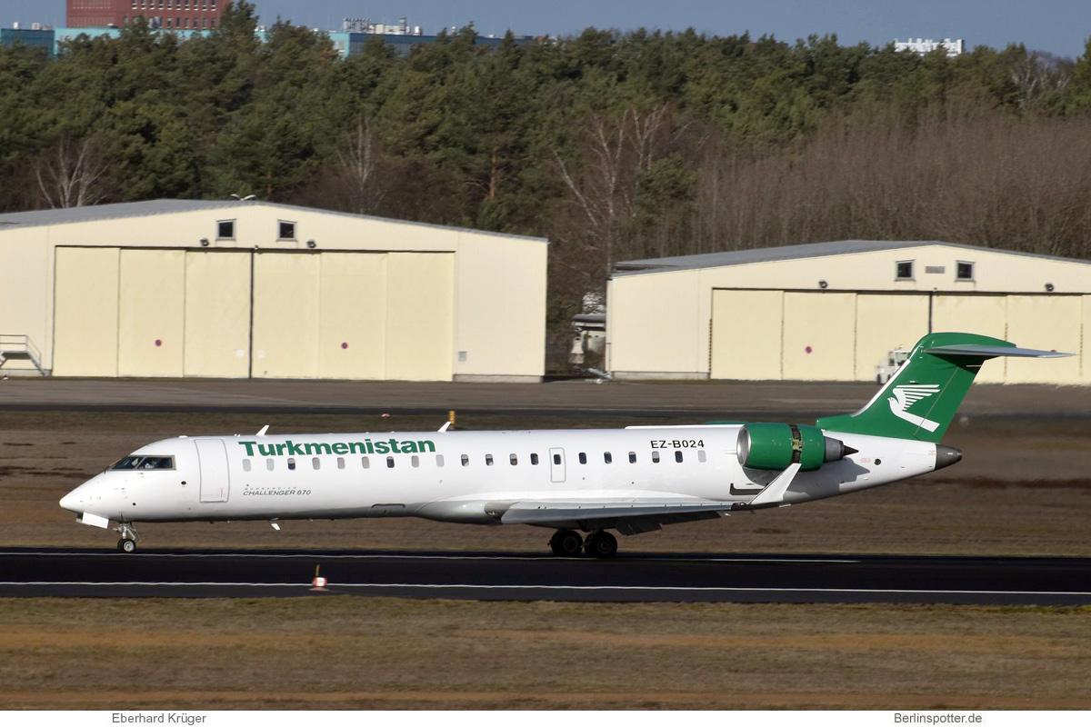 Turkmenistan Airlines Bombardier Challenger 870 EZ-B024
