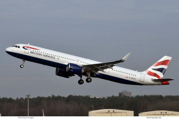 British Airways, Airbus A321neo G-NEOS (TXL 6.2.2019)