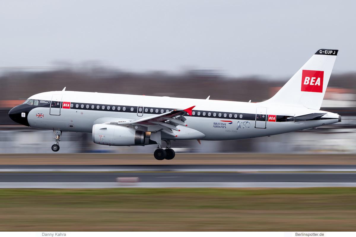 British Airways Airbus A319-100 G-EUPJ