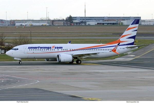 SmartWings, Boeing 737 MAX 8 OK-SWE (SXF 5.3.2019)