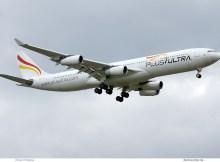 Plus Ultra Airbus A340-300 EC-MFB (SXF 12.4.2019)