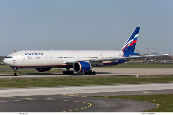 Aeroflot, Boeing 777-300ER VQ-BQM (SXF 2.4.2019)