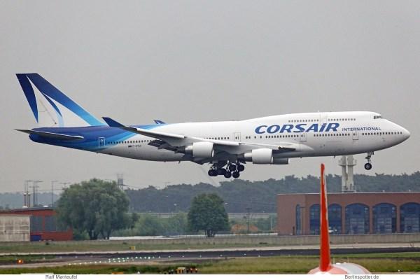 Corsair, Boeing 747-400 F-GTUI (SXF 22.5.2019)