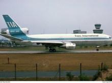 TIA Trans International Airlines, McDonnell-Douglas DC-10-30(CF) N102TV (TXL 24.7.1976)