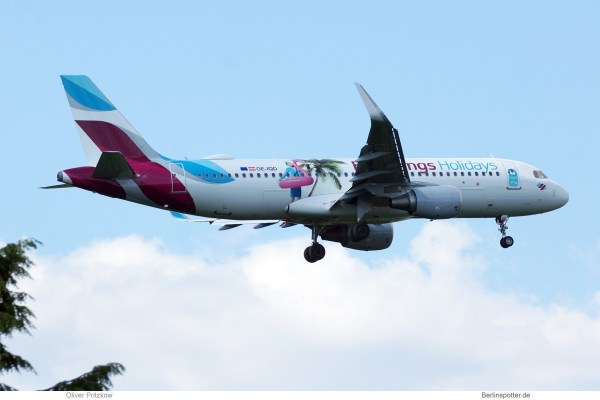Eurowings Europe Airbus A320-200(SL) OE-IQD, Eurowings Holidays-Bemalung (TXL 23.6.2019)