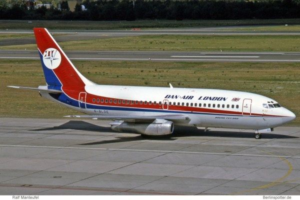Dan-Air London, Boeing 737-200 Adv. G-BLDE (TXL 23.7.1991)