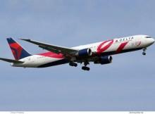 Delta Air Lines, Boeing 767-400ER N845MH, BCRF-Bemalung (TXL 20.8.2019)