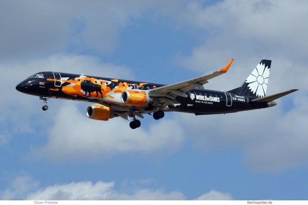 Belavia, Embraer 195 EW-400PO, World of Tanks cs. (SXF 5.9.2019)
