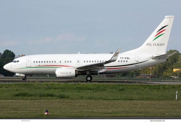 Arab Wings Company, Boeing 737-700 (BBJ) T7-PAL (TXL 29.8.2019)