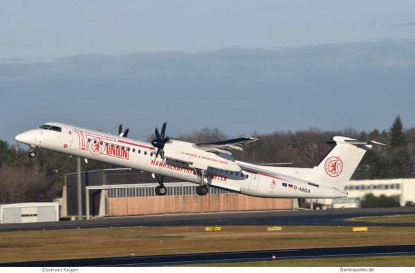 LGW Luftfahrtgesellschaft Walter, Bombardier Q400 D-ABQA, 1. FC Union (TXL 21.12.2019)