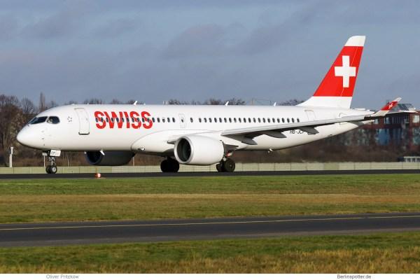 Swiss, Airbus A220-300 HB-JCF (TXL 30.11.2019)
