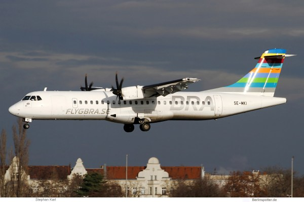 BRA Braathens Regional, ATR72-600 SE-MKI (TXL 29.12.2019)