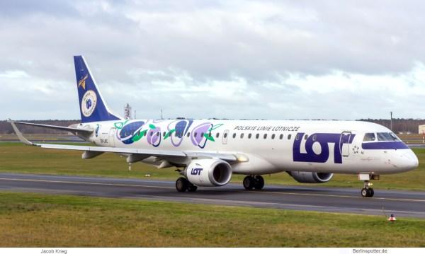 LOT Polish Airlines, Embraer 195LR SP-LNC (TXL 29.11.2019)