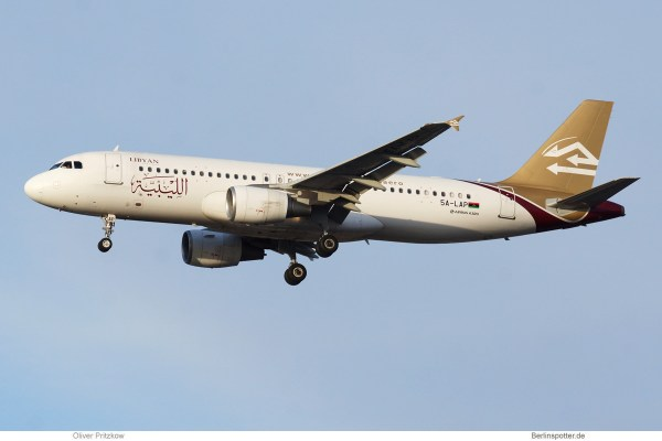 Libyan Airlines, Airbus A320-200 5A-LAP (TXL 18.1.2020)