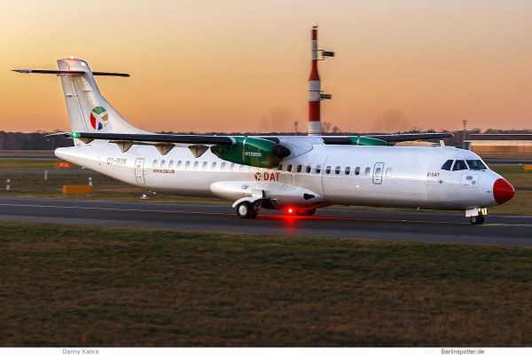 DAT Danish Air Transport, ATR72-600 OY-RUV (TXL 2.1.2020)