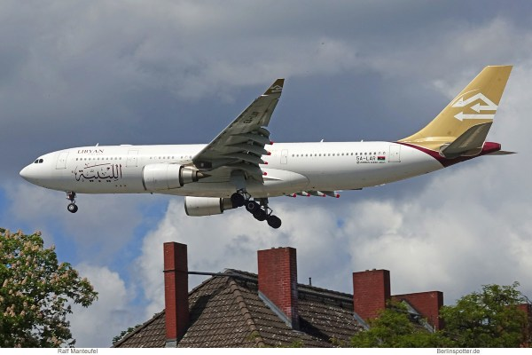Libyan Airlines, Airbus A330-200 5A-LAR (TXL 17.5.2020)