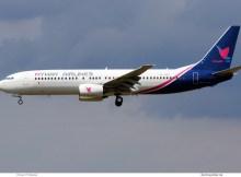 MyWay Airlines, Boeing 737-800 4L-BQJ (SXF 25.7.2020)