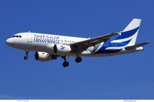 Libyan Wings, Airbus A319-100 5A-WLD (TXL 30.7.2020)