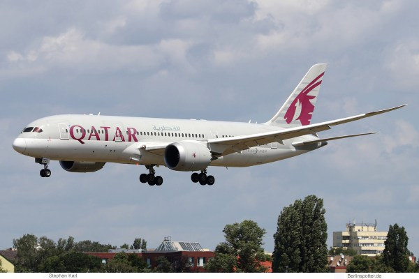 Qatar Airways, Boeing 787-8 Dreamliner A7-BCC (TXL 6.7.2020)