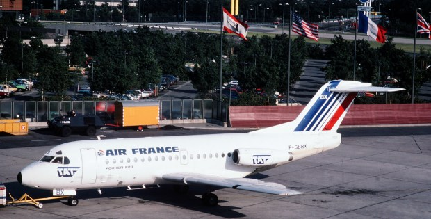 TAT (Transport Aerien Transregional), Fokker F.28-1000 F-GBBX (TXL 1986)