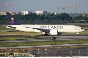 Saudia Cargo, Boeing 777F HZ-AK74 (SXF 14.9.2020)