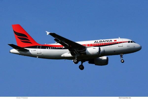 Albania Gvmt., Airbus A319-100 CorporateJet TC-ANA (TXL 17.9.2020)