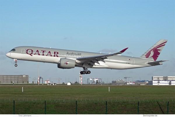 Qatar Airways, Airbus A350-900 A7-AMF (BER 4.11.2020)