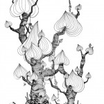 Maria Persson (SE) A Big Tree, A2 - Ink - 2015 Black & White