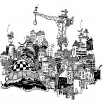 Maria Persson (SE) My Town, A4 - Ink - 2014 Black & White