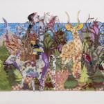 Skov med hjorte, 52x120 cm, 2014