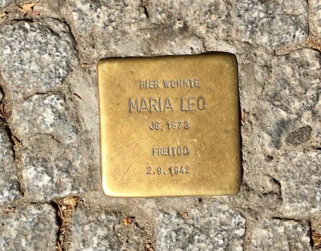 Stolperstein for Maria Leo i Schöneberg