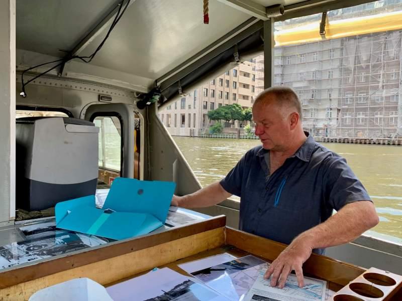 Dirk Braumann på Grenzboot G42