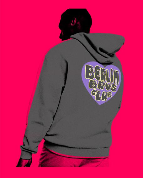 purple heart club hoodie