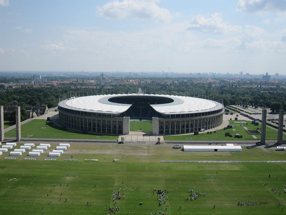 Olympiastadion Berlin. Bygget til OL i 1936