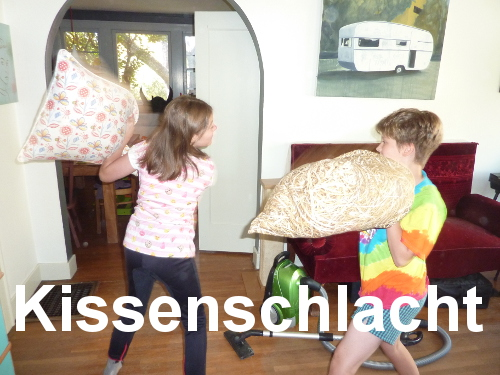 Militaristic German words: Kissenschlacht
